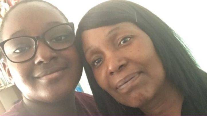 Katrice Louis and her mother