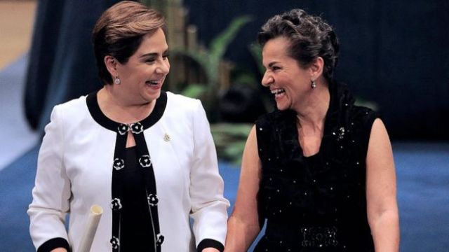 Patricia Espinosa y Christiana Figueres