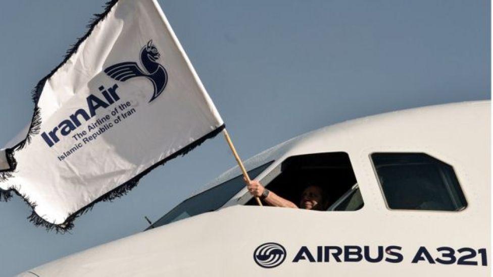 یکی از سه هواپیمای ایرباسی که در ابتدای سال ۲۰۱۷ تحیول ایران شد