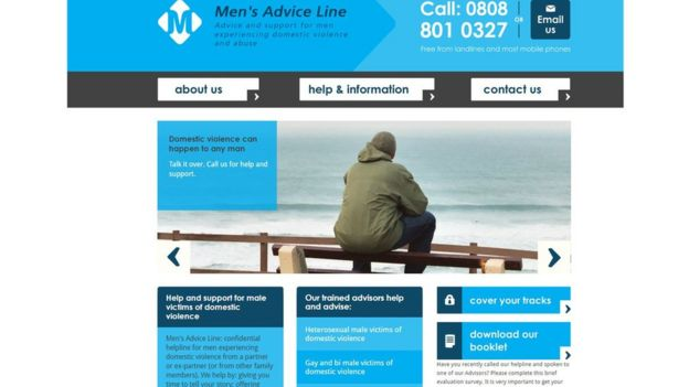 Sitio web de Men's Advice Line