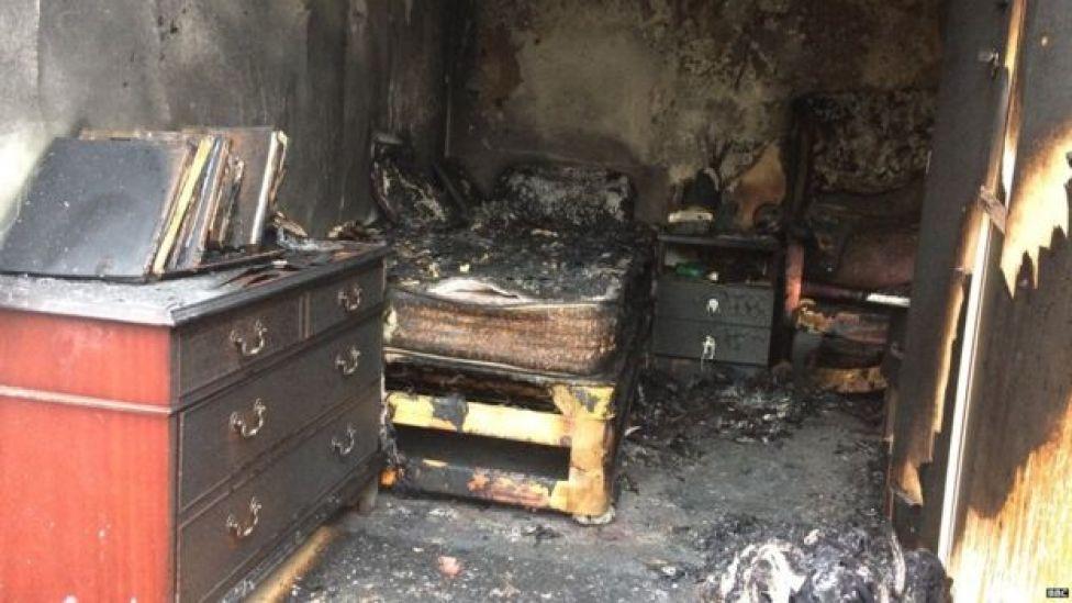 test fire in Derbyshire