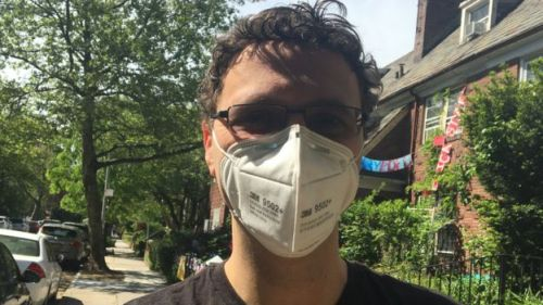Dr. Duncan Maru leaving his neighbourhood in New York to head for a shift on the front-line treating coronavirus patients