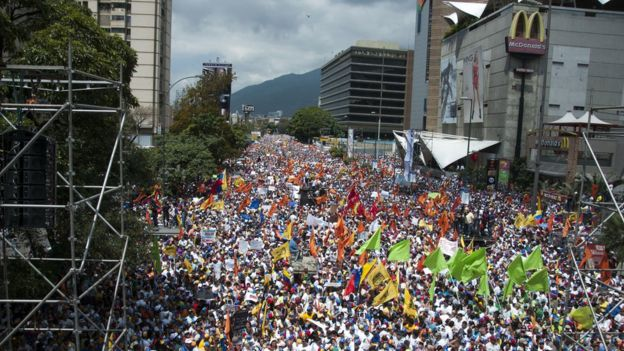 Protestas en 2014 en Caracas.