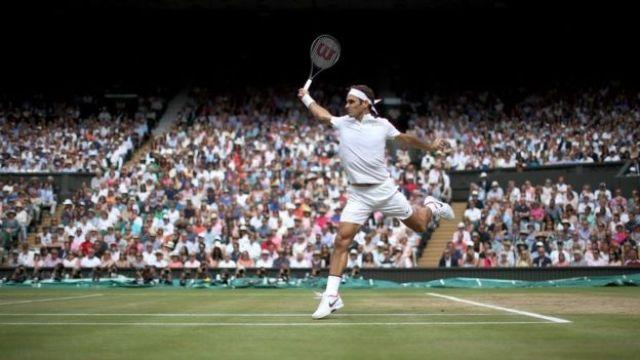 Roger Federer (Suisse) à Wimbledon.