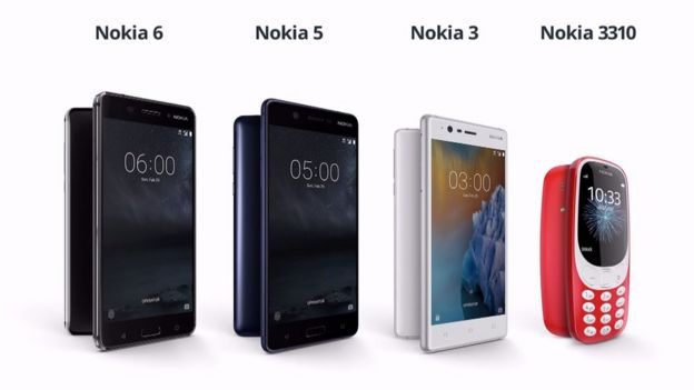 HMD Nokia phone range