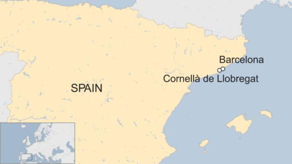 Cornellà de Llobregat map