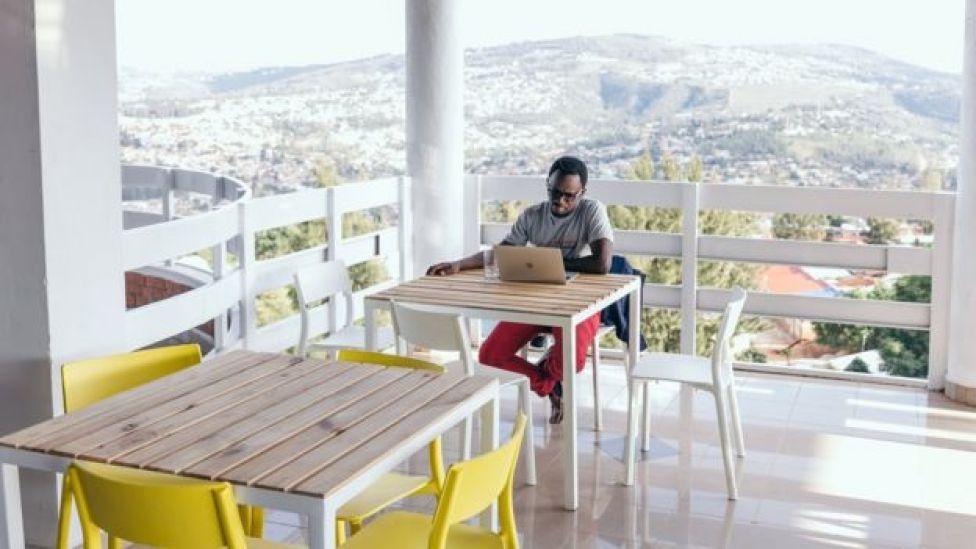 Andela employee in Kigali