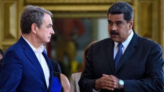 José Luis Rodríguez Zapatero e Nicolás Maduro