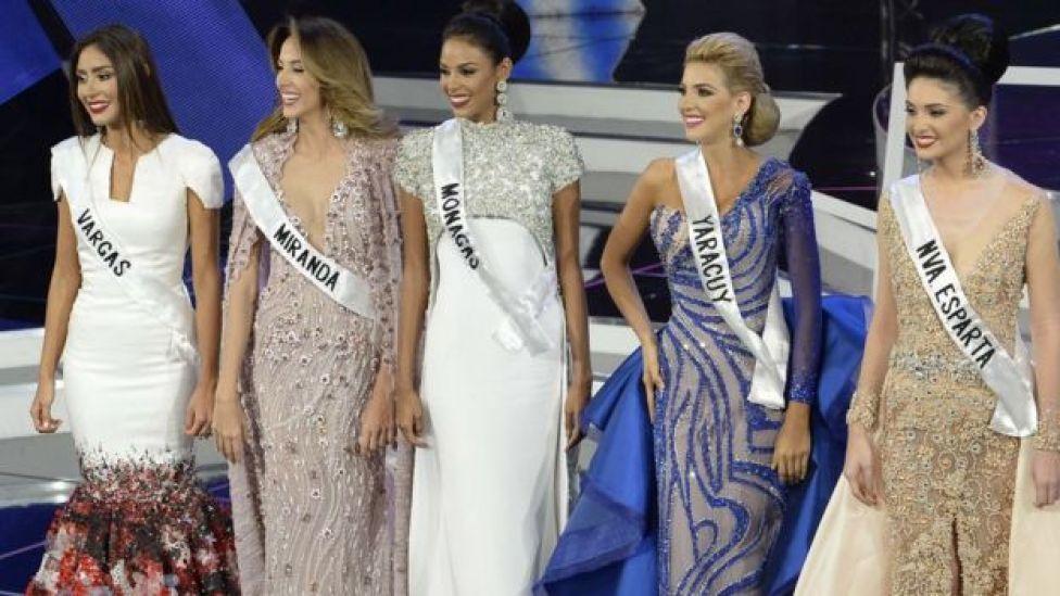 Las cinco finalistas de la edición de 2016.