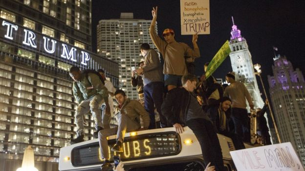 Protesters in Chicago