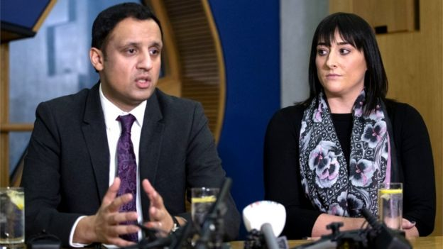 Anas Sarwar and Milly Main's mother Kimberly Darroch