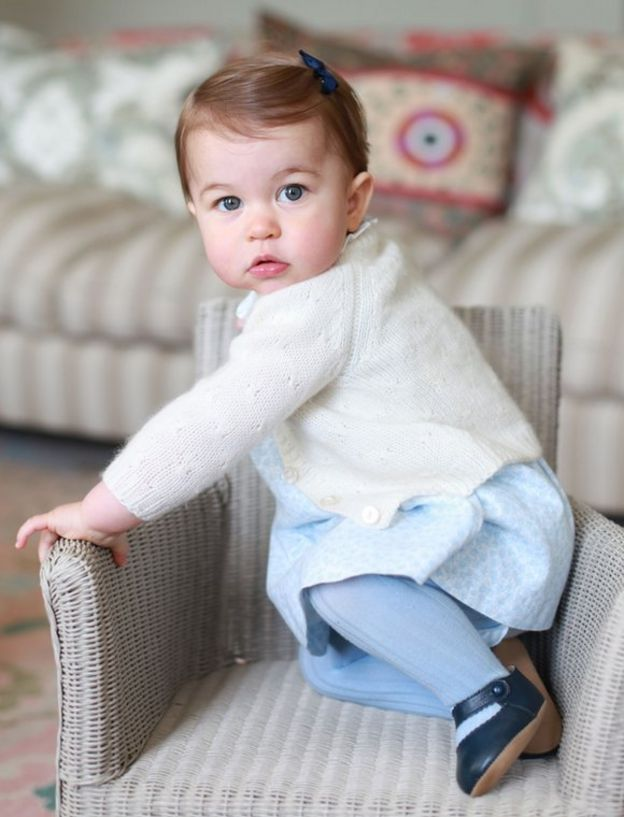 Princess Charlotte photographed in April