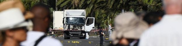 The lorry used to carry out the Nice killings in July