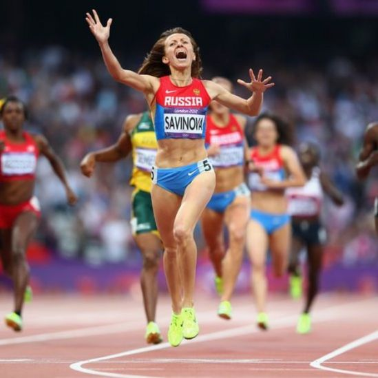 Savinova fue una de las atletas sancionadas por dopaje