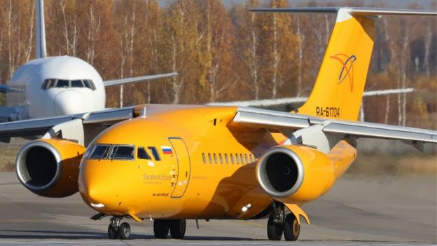 File picture of the Saratov plane that went down near Moscow on 11 February