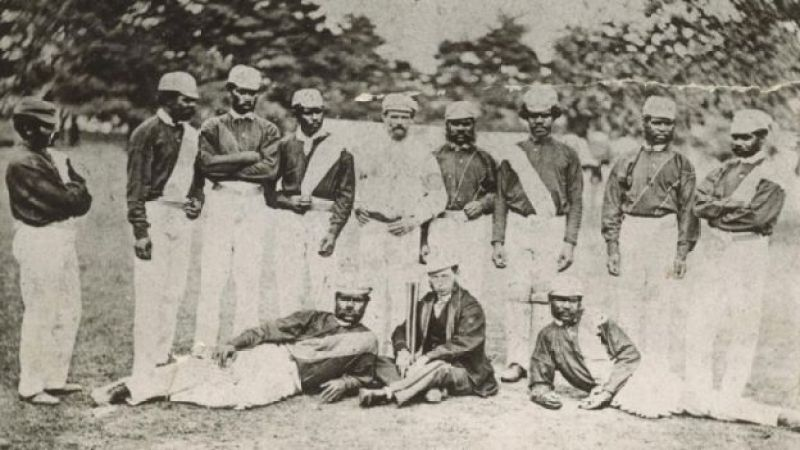 The members of the 1868 tour pose for a portrait
