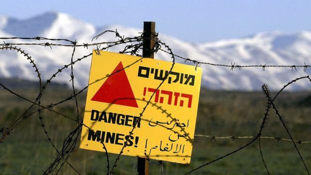Minas en los Altos del Golán