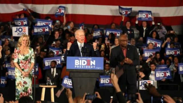 Joe Biden at a South Carolina rally