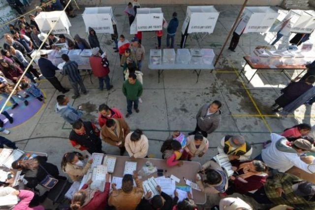 Una casillas de votación