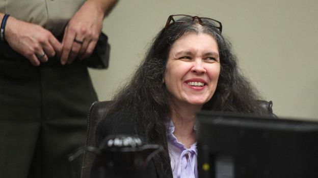 Louise Turpin occasionally smiled during Friday's sentencing