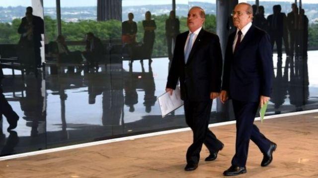 Onyx Lorenzoni e Eliseu Padilha no Palácio do Planalto