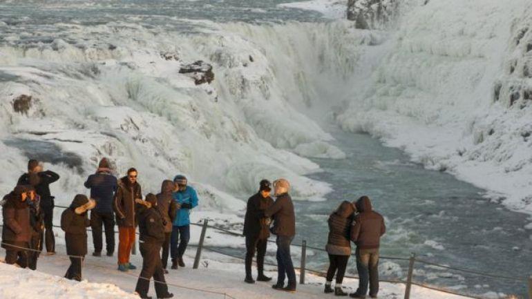 Paisaje helado de Islandia