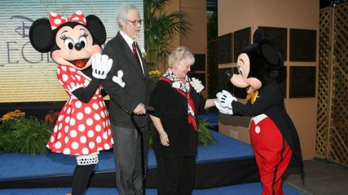 Wayne Allwine and Russi Taylor at the Disney Legends ceremony in 2008