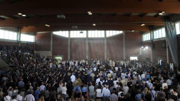 Polideportivo donde tuvo lugar el funeral