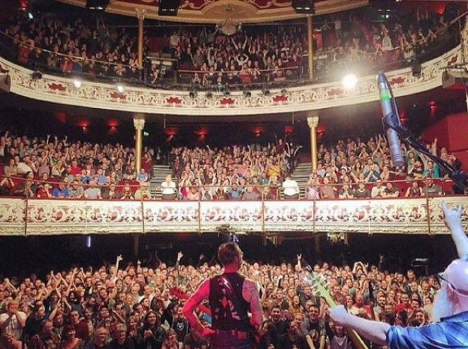Picture showing Eagles of Death Metal at concert in Dublin
