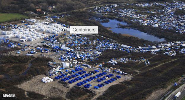 news calais jungle container camp