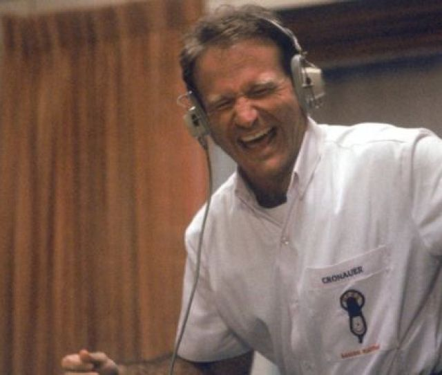 Robin Williams In Dj Booth In Role Of Adrian