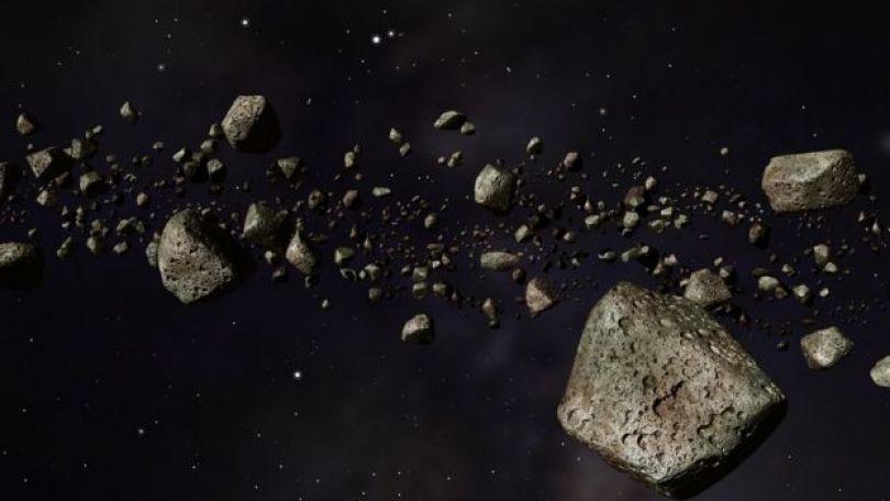 Concepção artística de asteroides