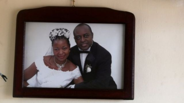 A wedding photo of King Charles Wesley Mumbere.