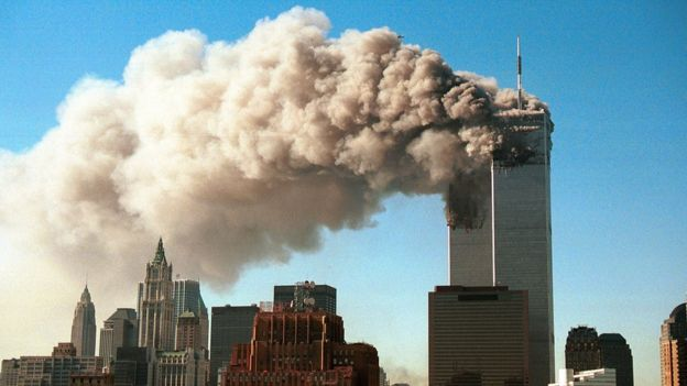 World Trade Center hit by attacks on September 11, 2001