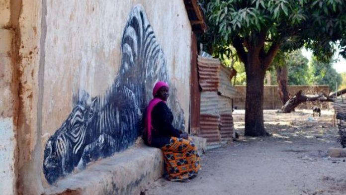 Les fresques font partie du décor à Galoya
