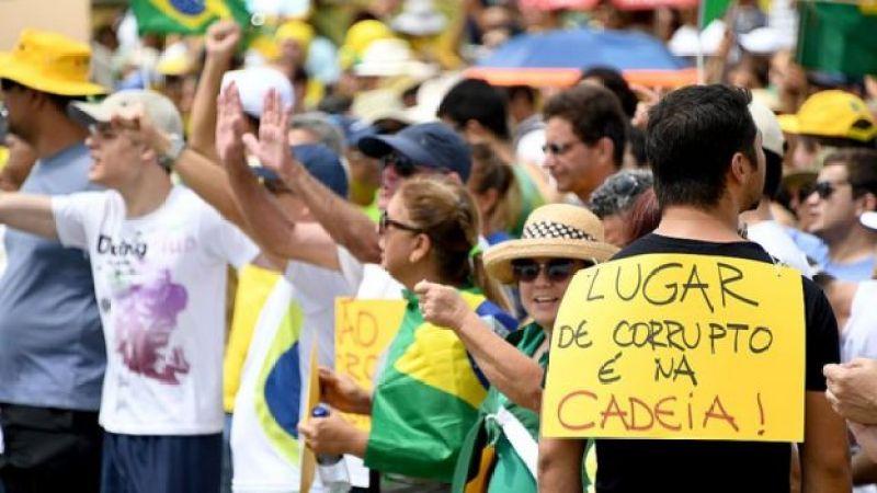 Protesta contra la corrupción en Brasil