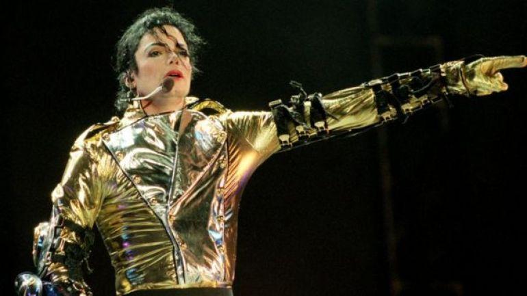Michael Jackson en el escenario.