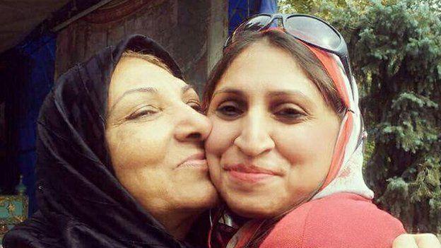 Vandana Vijay with Iranian woman