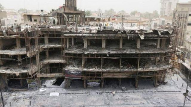 Building hit by Karrada bomb blast