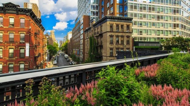 Pedestrians swap taxis and Uber rides for 20-block strolls along New York's High Line. It's encouraged cities like Sydney to Seoul to revamp old rail and roads into ambling parks
