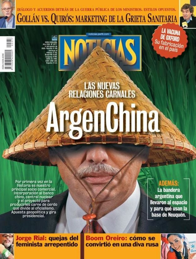 Capa da revista argentina Noticias
