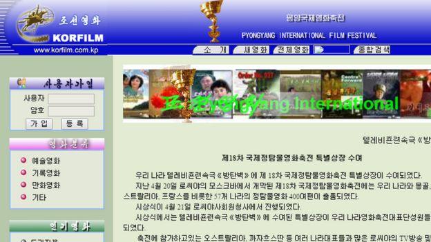 Sitio web en el intranet de Corea del Norte