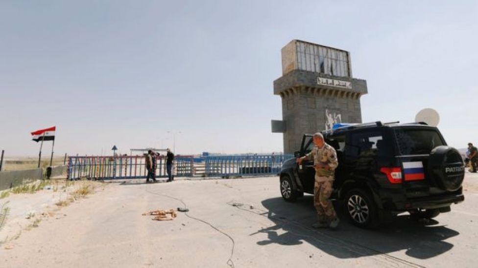 Nasib sınır kapısında Suriyeli ve Rus güçler
