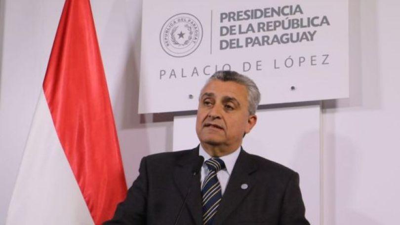 O ministro del Interior de Paraguai, Juan Ernesto Villamayo