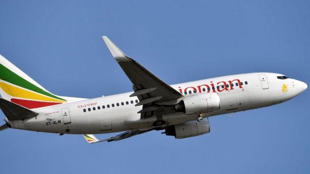 Foto de archivo tomada el 28 de noviembre de 2017 que muestra un Boeing 737 de Ethiopian Airlines