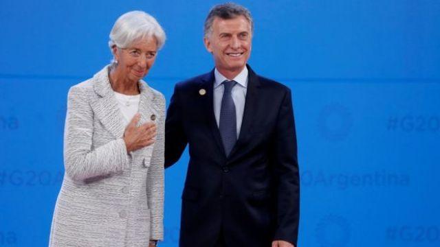 Christine Lagarde e Mauricio Macri na reunião do G20 em novembro de 2018