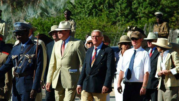 Descendientes del general Lothar von Trotha en Namibia en 2007