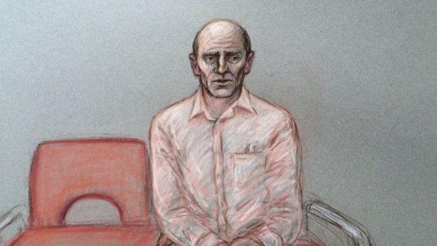 Dibujo del juicio de Stephen Port
