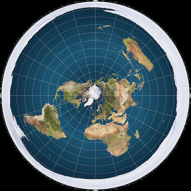 Mapa de la Tierra Plana