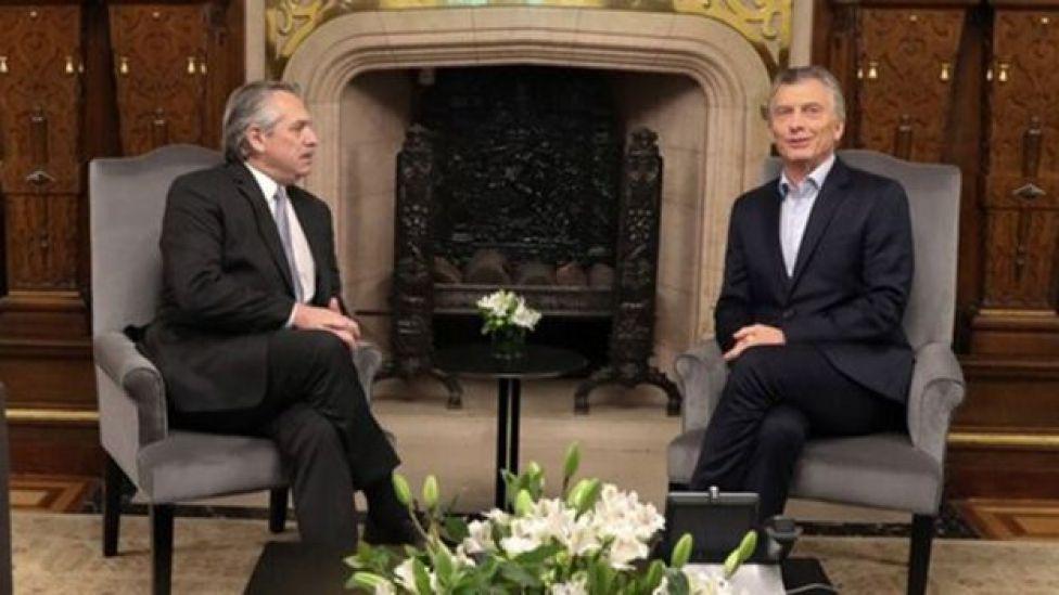 Alberto Fernández y Mauricio Macri, el día después de los comicios Presidencia de la Nación